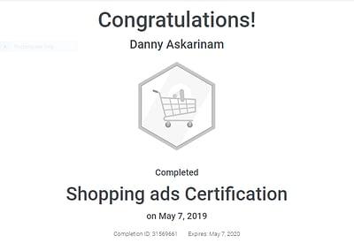 Google Ads Shopping Certification